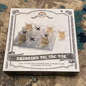 Drinking tic-tac-toe game